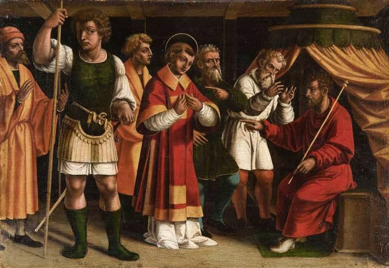 Il Rinascimento nelle terre ticinesi 2: Francesco De Tatti, Santo Stefano davanti ai giudici, 1526