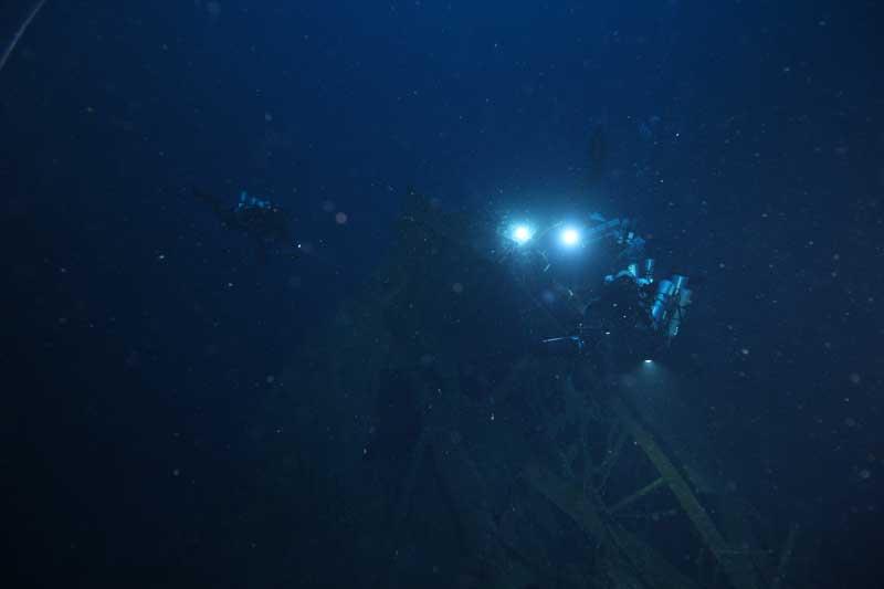 Relitto del piroscafo Città di Milano, Filicudi. Foto: Global Underwater Explorers