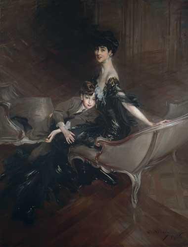Giovanni Boldini, Consuelo Vanderbilt, duchessa di Marlborough, con il figlio, Lord Ivor Spencer-Churchill, 1906. Olio su tela, cm 221,6 x 170,2. New York, Metropolitan Museum of Art. Dono di Consuelo Vanderbilt Balsan, 1946