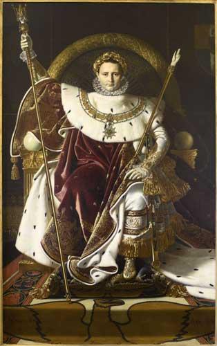 Jean Auguste Dominique Ingres, Napoleone sul trono imperiale, 1806. Olio su tela, 260 x 163 cm. Courtesy of Paris - Musée de l'Armée, Dist. RMN-Grand Palais / Emilie Cambier