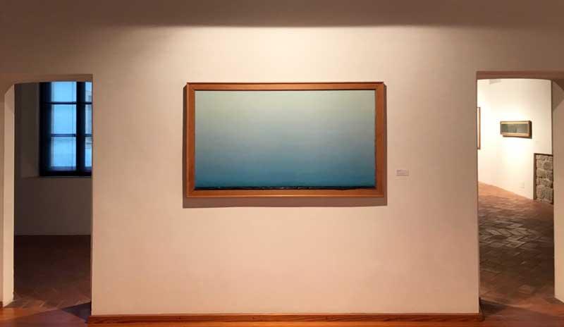 Mostra Piero Guccione a Mendrisio, allestimento - Photo: MaSeDomani