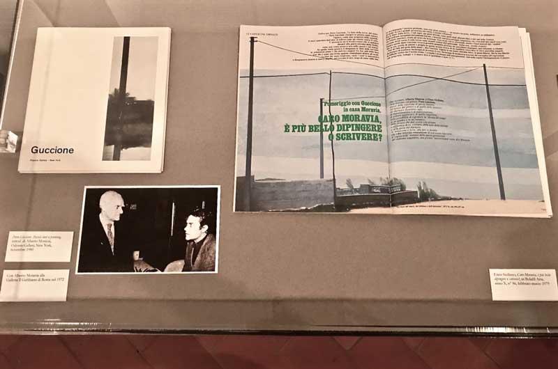 L'allestimento della mostra su Piero Guccione al Museo d'arte Mendrisio Photo: MaSeDomani