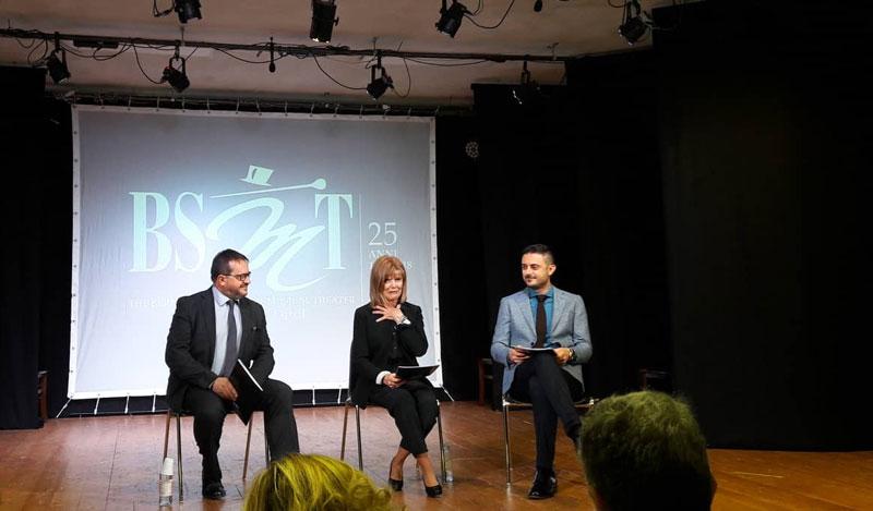 Mauro Gabrieli, Shawna Farell e Gabriele Scrima alla presentazione del Festival - Photo: Sarah Pellizzari Rabolini