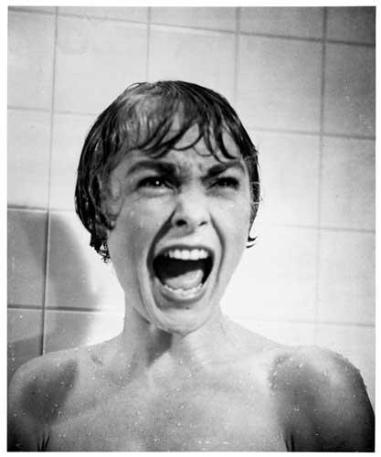 La famosa scena della doccia con Janet Leigh in Psyco (1960) Psyco © Universal Pictures