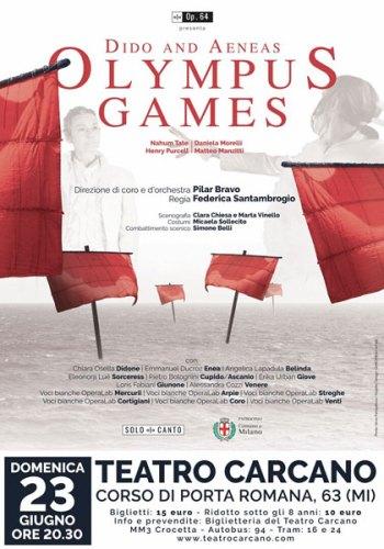 La locandina dello spettacolo Dido & Aeneas al Teatro Carcano. Crediti immagine: Silvia Pampallona, Grafica Giardino22 art lab