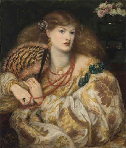 Dante Gabriel Rossetti (1828-1882), Monna Vanna, 1866. Olio su tela, cm 88,9 x 86,4. Tate: Purchased with assistance from Sir Arthur Du Cros Bt and Sir Otto Beit. KCMG through the Art Fund 1916. ©Tate, London 2019
