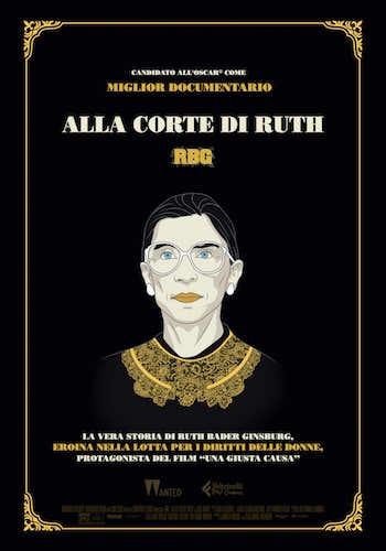 La Locandina italiana del film Alla Corte di Ruth - RBG