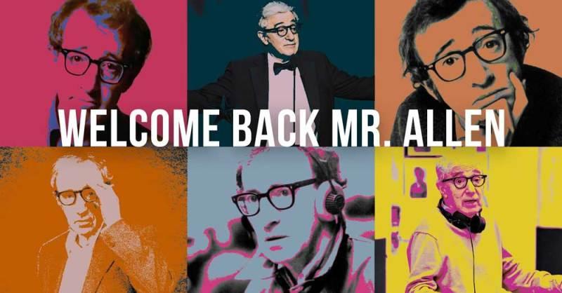 Locandina della retrospettiva dedicata al Woody Allen a Milano - banner