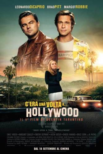 Il poster italiano C'era una volta a... Hollywood
