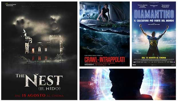 Le locandine dei film in uscita al cinema il 15 agosto