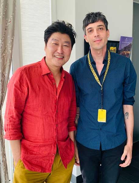 Luca Zanovello all'intervista a Song Kang-ho © MaSeDomani