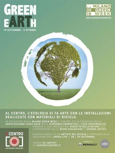 La locandina della mostra Green eArth a Il Centro di Arese (MI)