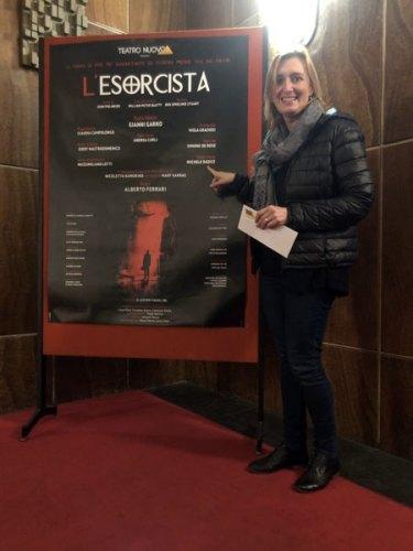 La nostra Sarah Pellizzari Rabolini a vedere L'Esorcista al Nuovo di Milano!