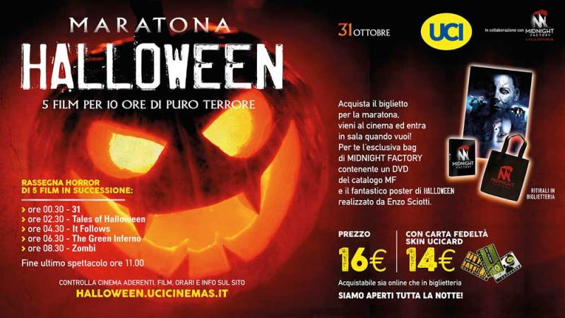maratona halloween midnight factory uci cinemas