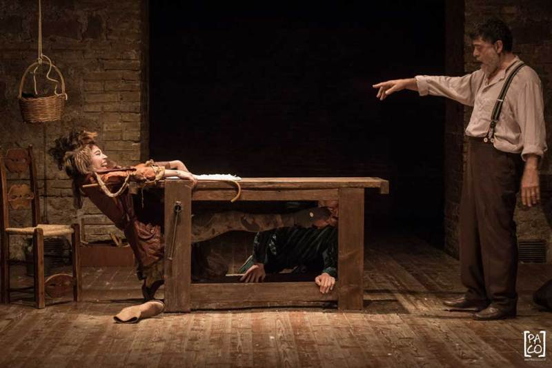 Una scena dello spettacolo La notte di Pinocchio
