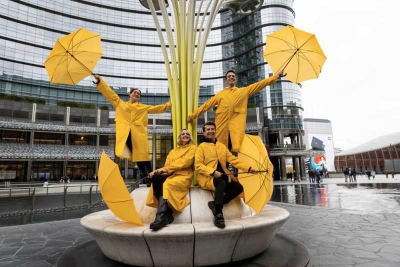Uno scatto del flashmob di Singin' in the rain il musical © Luca Vantusso