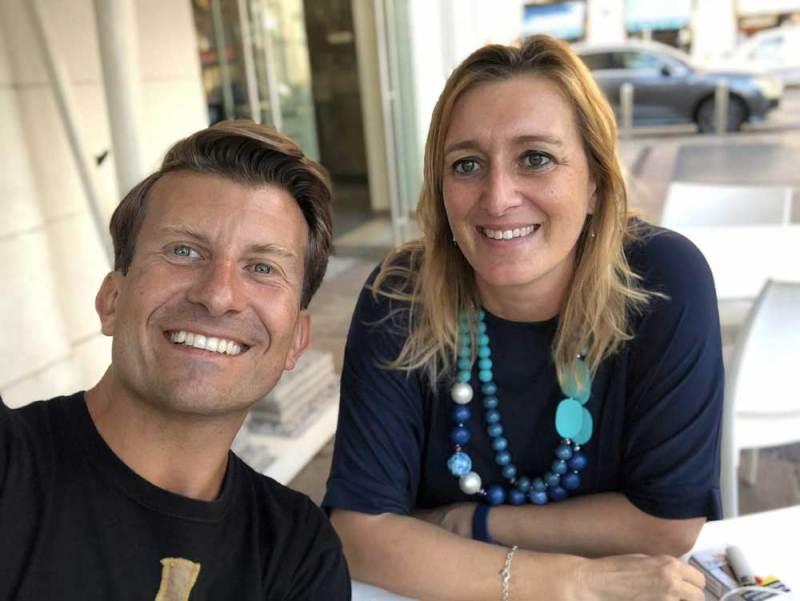 Mauro Simone insieme a Sarah Pellizzari Rabolini © MaSeDomani