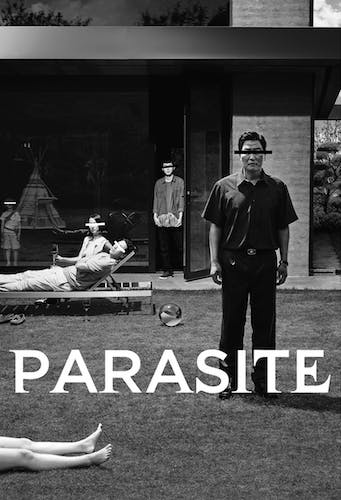 Parasite Black and white locandina