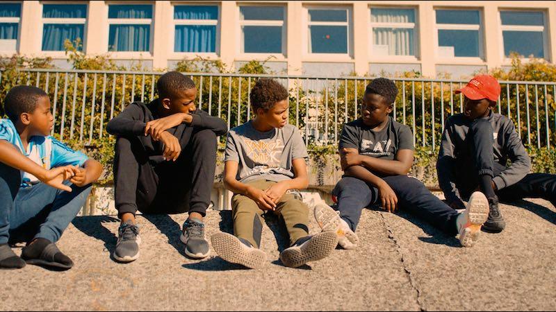 I giovani ragazzi protagonisti del film a Montfermeil - Photo: courtesy of IFFR