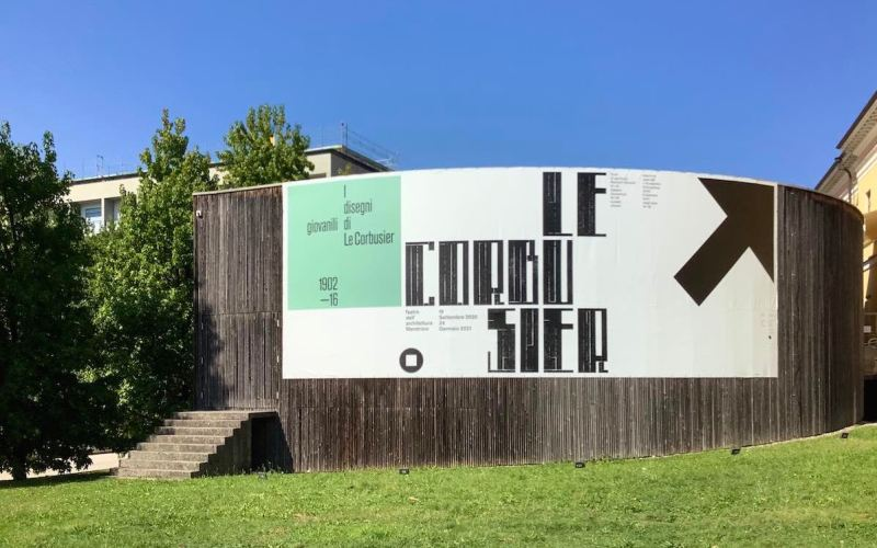 mostra I disegni giovanili di Le Corbusier, esterno TAM. Photo: MaSeDomani