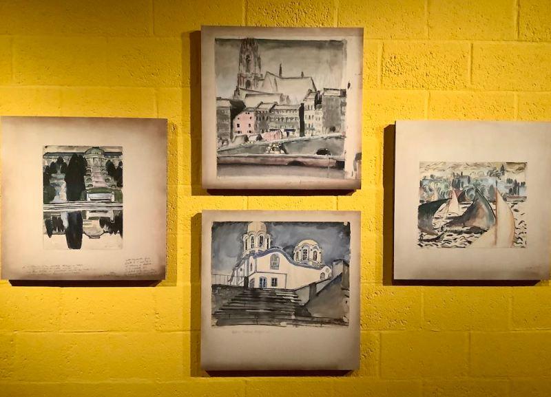i disegni giovanili di Le Corbusier, una sala. Photo MaSeDomani
