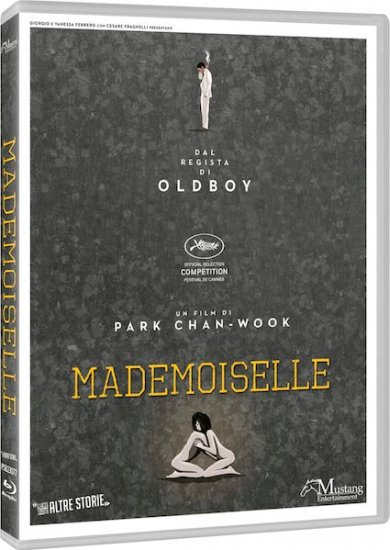 Mademoiselle esce in home video - BD cover - Ph courtesy of Mustang Entertainment