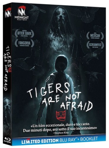 La cover della versione blu-ray del film Tigers Are Not Afraid.