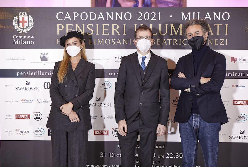 Pensieri Illuminati_press conference_beatrice venezi-filippo del corno-felice limosani_ph press office