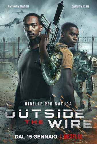 outside the wire poster ita film Netflix