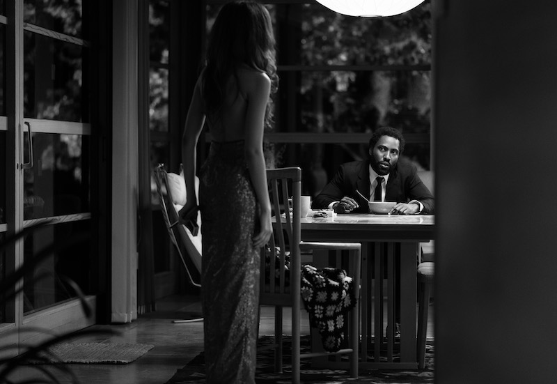 Zendaya e John David Washington in una scena del film Malcom & Marie. Cr: DOMINIC MILLER/NETFLIX © 2021
