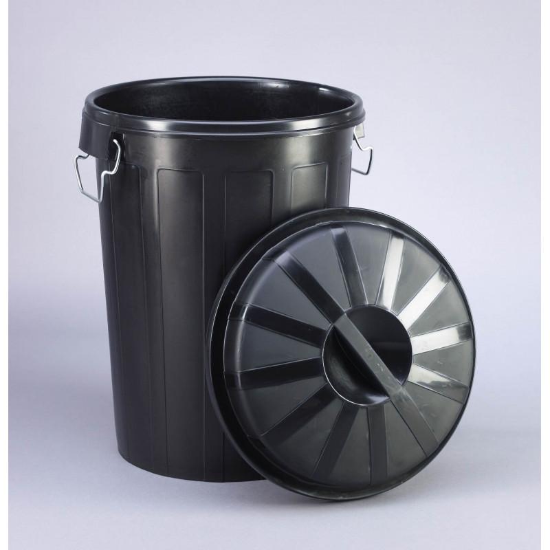 Cubo Basura Industrial Con Tapa 95 Litros 23187  Masferreteria