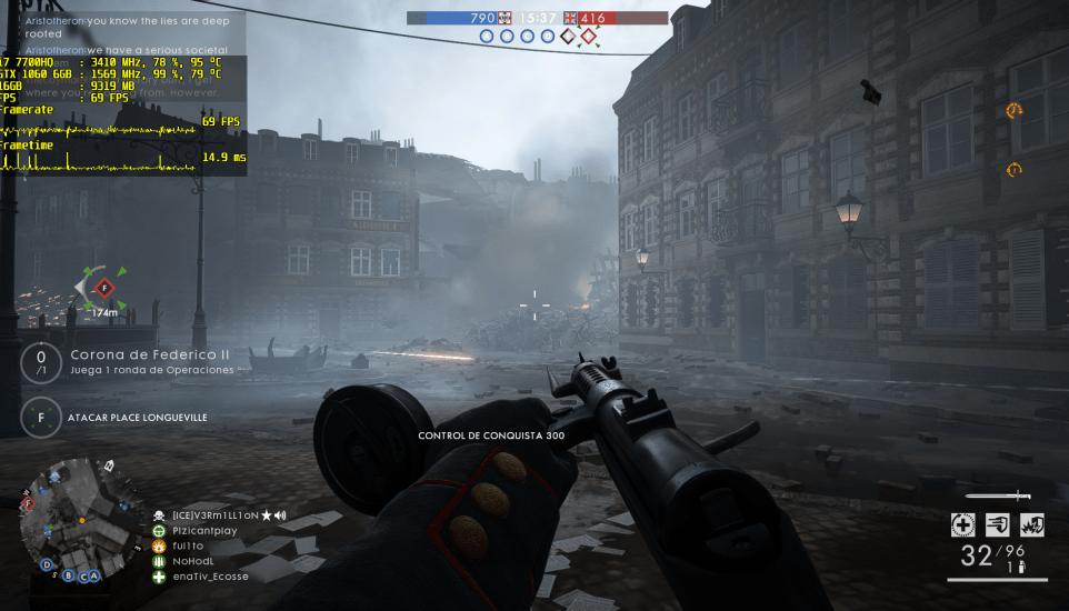 Battlefield 1 en el MSI GE63VR 7RE Raider con gráficos en Ultra