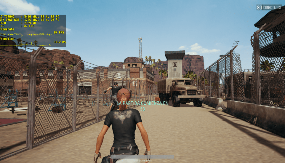 PlayerUnknown's Battlegrounds en el MSI GE63VR 7RE Raider