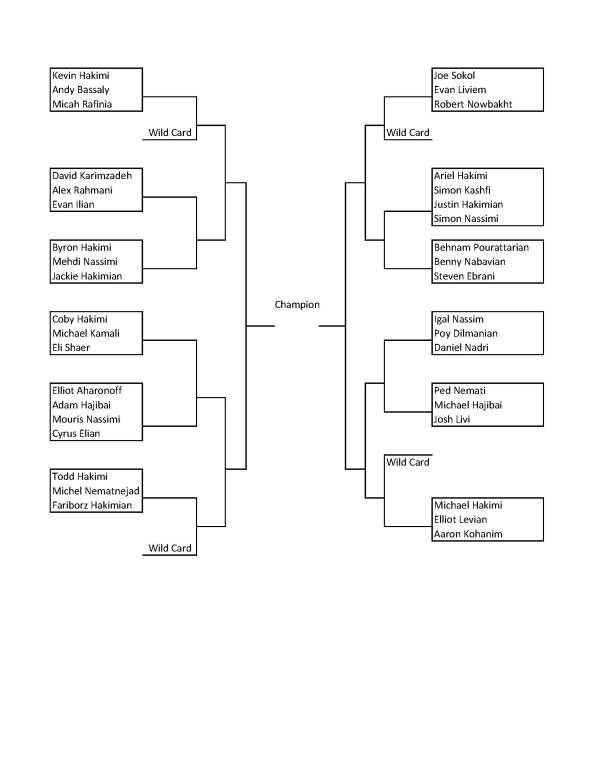 Mashadi Open 2013 Singles Bracket