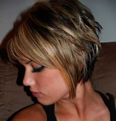 messy bob with side fringe unique wodip