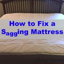 Sagging Sofa Purple Velvet Canada How To Fix A Mattress -- On The Cheap