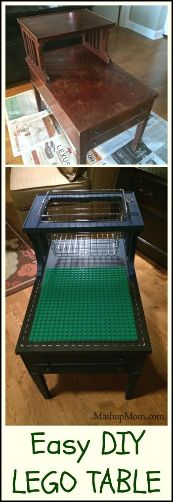 Easy DIY LEGO Table Or DUPLO Just Line The Basket
