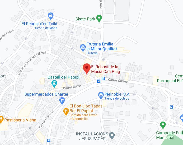 mapa rebost masia can piig