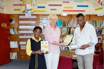 A generous donation of illustrated English dictionaries to help students learn their second language