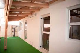 Shaded playground in the new Home of Love' (Ekhaya Lothando) School