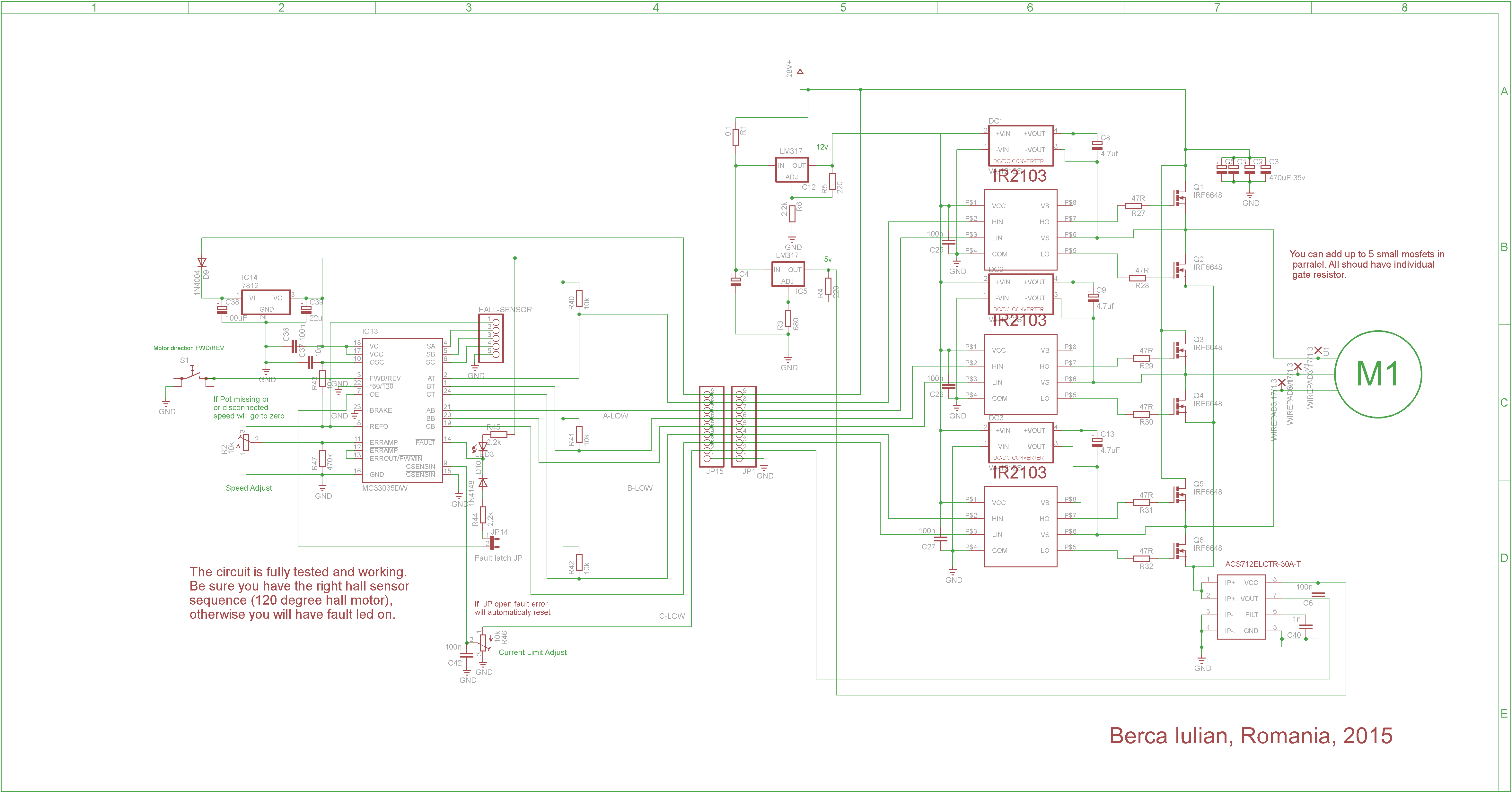 """Brushless controller schematic"" ""brushless motor"