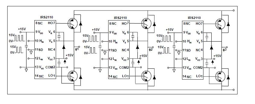 IR2110 half bridge driver « Brushless motors, 3Phase