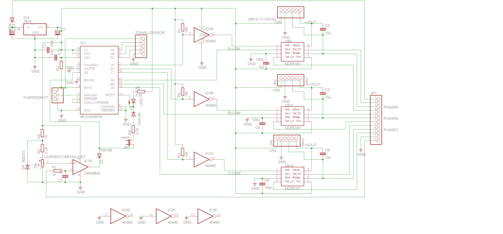 medium resolution of the brushless motor controller schematic command module