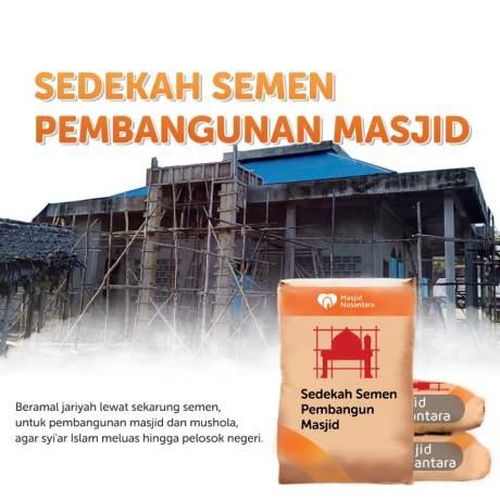 Sedekah Semen Pembangunan Masjid