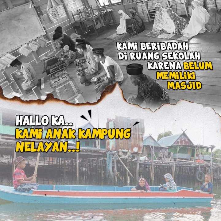 Patungan Dirikan Masjid Apung Pertama untuk Kampung Nelayan Buttue