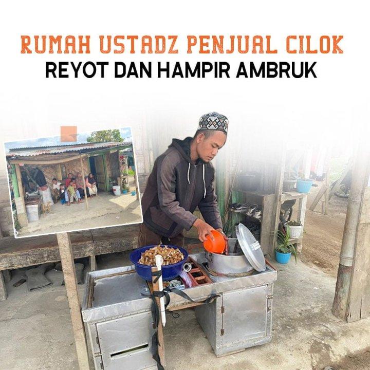 Kado Ramadhan! Wujudkan Harapan Ustadz Penjual Cilok Miliki Hunian Layak