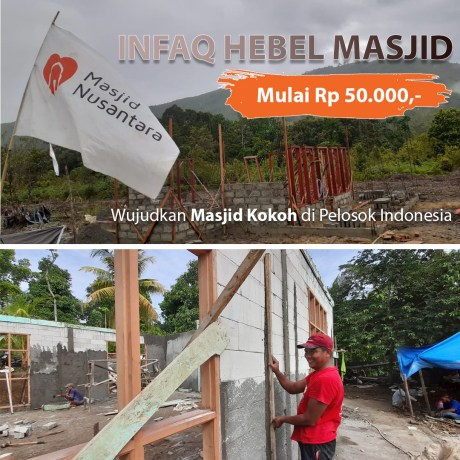 Sedekah Jariyah, Patungan Hebel untuk Bangun Masjid di Pelosok