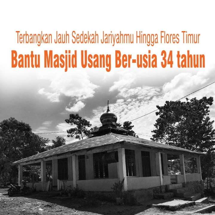 Bantu Muslim Minoritas di Flores Timur Miliki Masjid Layak
