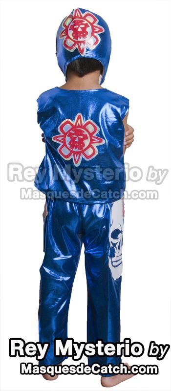 Rey Mysterio Kids Costume Blue - Maskedwrestlers