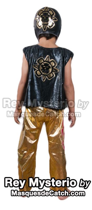 Rey Mysterio Kids Costume Black & Gold - Maskedwrestlers